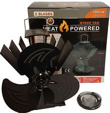 3 blade heat powered stove fan by Ecoflow log burner wood burning stove fan