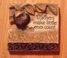 TEACHERS MAKE LITTLE ONES COUNT small resin plaques of hang