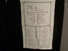 "New listing Old Irish Prayer Linen Calendar. 1979 Great one to hang. 15 1/2"" x 26"""