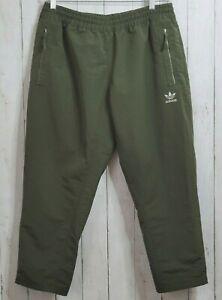 Adidas XL Joggers Fallen Future Cropped Track Pants BR1815 Military Khali Green