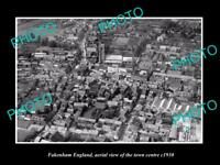 OLD 8x6 HISTORIC PHOTO OF FAKENHAM ENGLAND VIEW OF THE TOWN CENTRE c1930 3