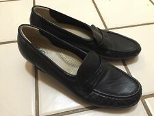 SAS Tripad Comfort Footbed Black Wedge Loafers Shoes Women's 8.5 S Made In USA