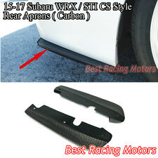 Bottom Line CS Style Rear Bumper Aprons (Carbon) Fits 15-18 Subaru WRX STi