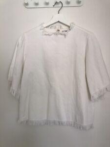 HANSEN & GRETEL Cotton Frayed Edge Top NEVER WORN