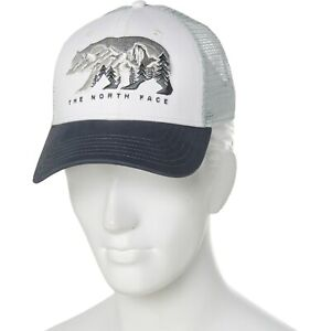 Men's The North Face Fine Alpine Equipment White Grey Trucker Polar Bear Hat Cap