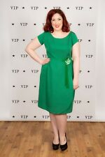 Rare vintage green BLANES LONDON evening dress - VOLUP plus size