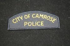 Canadian Camrose Alberta City Police Patch