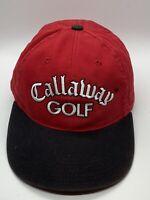 Callaway Golf Red Black Great Big Bertha Adult Baseball Cap Hat Hook & Loop