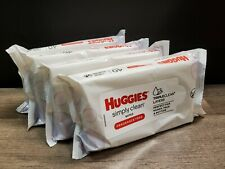 Huggies Simply Clean Wipes 40 per Pack Unscented 4 Pack Fast Free Shipping