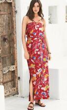 NEXT RED FLORAL PRINT BANDEAU STRAPLESS MAXI DRESS SIZE 20 BNWT