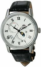Orient Men's Sun & Moon V3 Automatic Stainless Steel & Leather Watch FAK00002S0
