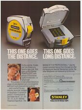 Original 1985 Stanley Tape Measure Limited Edition Telephone Vintage Print Ad