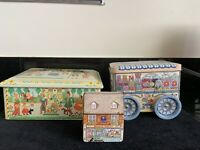 Lot Of 3 Vintage Tins, Chocolate, Penny Candies, Bellevue Bakery