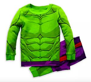 NEW Disney Store SZ 5 6 7 8 10  Incredible Hulk PJ Pal Costume Pajamas NWT