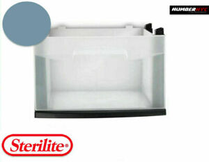 Sterilite 1 DRAWER BIN & TEAL BLUE FRAME Office Medium Clear Storage Containers