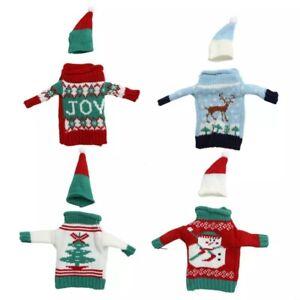 Wine Bottle Christmas Jumper & Hat