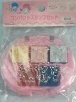 1997 Sanrio Little Twin Stars oval Stamping kit  Fairy Kei style
