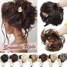 Natural Large Tousled Messy Bun Hair Piece Scrunchie Pony Tail Hair Extensions