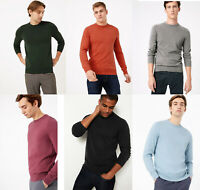 M&S Marks Spencer Men Pure Cotton Crew Neck Jumpers Sweater Pullover TOP M-3XL