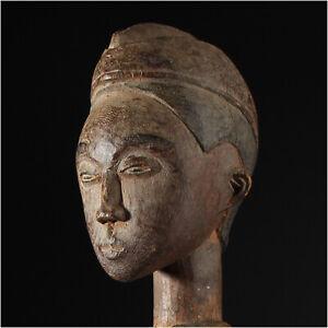 11394 Antiguo Baule Fetiche Presentir Figura Ancestro Colon Costa de Marfil
