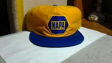New listing Vtg Napa Car Parts Patch Mesh Snapback Yellow Hat Cap Louisville Mfg Co Usa 80s