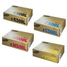 2x SET Samsung CLT-K508L CLT-C508L CLT-Y508L CLT-M508L Genuine CLX6220 CLX6250FX