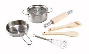 Hape CHEFS COOKING SET - PANS & UTENSILS SET - 7 PIECES CHILDRENS TOY