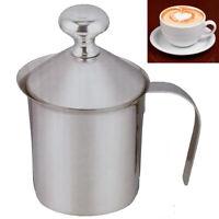 Sbattitore Schiuma Latte Caffè Cappuccino Acciaio Bricco Shaker Pentolino 3142