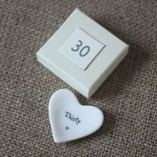 East of India Ceramic Mini Heart Dish Porcelain 18th/21st/30th Birthday Gift