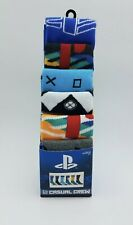 """NEW MENS """"PLAYSTATION VIDEO GAMER 6 PAIR CASUAL CREW SOCKS"""" Shoe Size 8-12"""