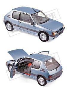 1/18 Norev Peugeot 205 GTI 1.6 1988 Topaze Blue Livraison Domicile Fin Juillet