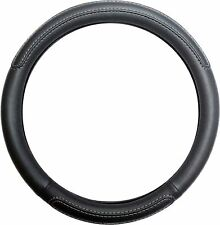 Black Steering Wheel Cover Soft Grip Leather Look for Volvo 240 All Models