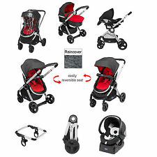 CHICCO RED WAVE SPECIAL EDITION URBAN TRAVEL SYSTEM PUSHCHAIR BABY NIGHTCAR SEAT