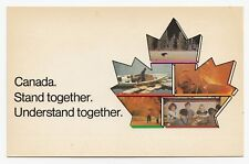 CANADA Stand together Quebec Referendum Unity advertising campaign Postcard