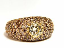 3.25ct natural fancy vivid brown diamond ring dome 14kt+