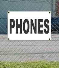 2x3 PHONES Black & White Banner Sign NEW Discount Size & Price FREE SHIP