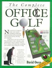 The Complete 9 Hole Office Golf Course, Punch Out Color Golf Holes, David Owen