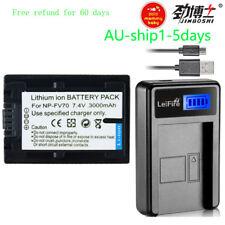 3A Battery+ Charger for Sony NP-FV70 NP-FV100 NP-FV30 NP-FV50 HDR CX HC PJ SR SX