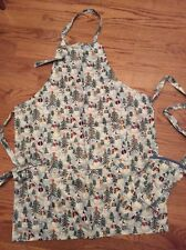 Whimsical Carol Endres Snowman Adult Apron And Hotmitt