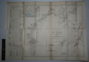 1906 Alexander Gosling Expedition Igi to Lake Chad NIGERIA Surveyed 1904-5 Map