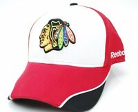 Chicago Blackhawks Reebok NHL Piped Bill OSFM  Adjustable Hockey Cap Hat