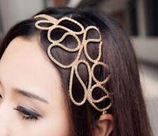 Women Girl fashion design Metal head chain Hair accessories decoration HB034