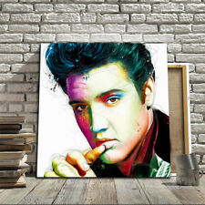 Colorido Patrice Elvis Chorro de Tinta Lono Óleo Pintura Hogar de Decoración