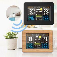 Funk Wetterstation & Innen Außensensor Hygrometer Thermometer Digital Wecker