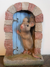 Mouse Door Small Home Indoor Ornament Cute Farm Style Decor