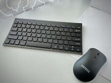 Arteck 2.4G Wireless Keyboard and Mouse Combo Ultra Compact Slim Stainless Full