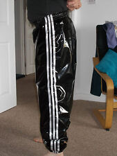 PVC Track Pants S - 4XL, Black & Silver Grey (NOW WITH POCKETS)