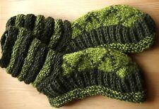 Dicke Woll Socken_Haussocken__Gr. 38-42_Grün_Woolen indoor Socks