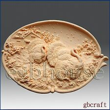 2D Silicone Soap/Plaster/Polymer Clay Mold,Thanksgiving Turkey Platter