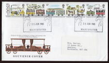 Gb 1980 liverpool+manchester rly.set transporte ill.cover